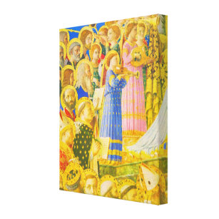 Fra Angelico, Chorus of saints and angels Canvas Print
