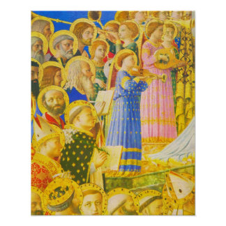 Fra Angelico, Chorus of saints and angels Poster