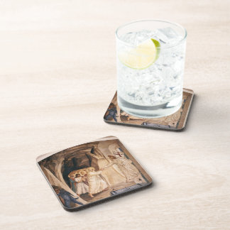 Fra Angelico- Christ in Limbo Beverage Coasters