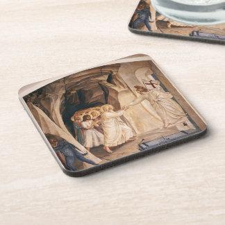 Fra Angelico- Christ in Limbo Beverage Coaster