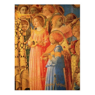 Fra Angelico- Coronation of the Virgin (detail) Postcard