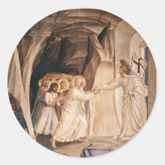 Fra Angelico- Cristo en limbo Pegatina