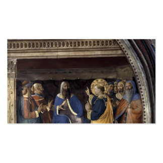 Fra Angelico- Dispute before Sanhedrin Business Card Templates