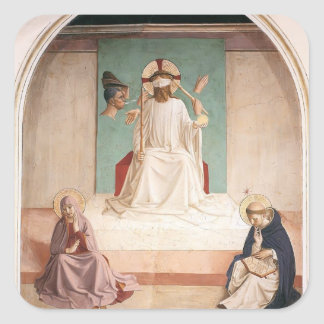 Fra Angelico- el imitar de Cristo Pegatinas Cuadradas Personalizadas