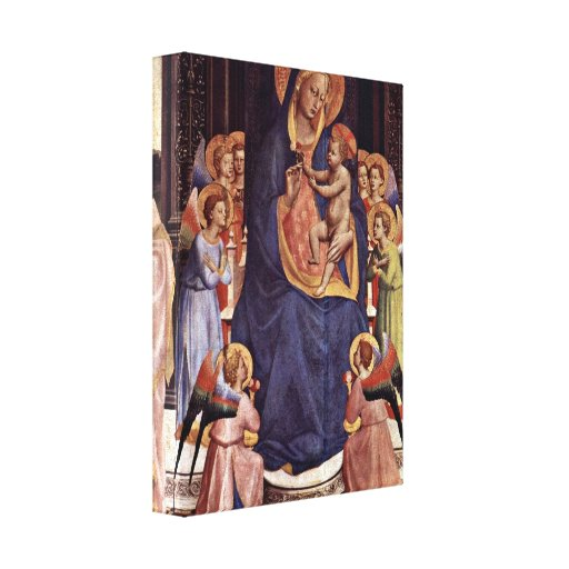Fra Angelico - Enthroned Madonna detail Canvas Print