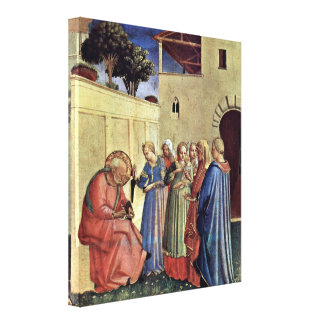 Fra Angelico - Inclusion of name of a polyptych Gallery Wrap Canvas