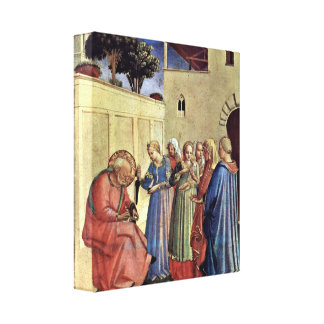 Fra Angelico - Inclusion of name of a polyptych Canvas Print