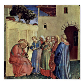 Fra Angelico - Inclusion of name of a polyptych Poster