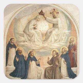 Fra Angelico- la coronación de la Virgen Etiqueta