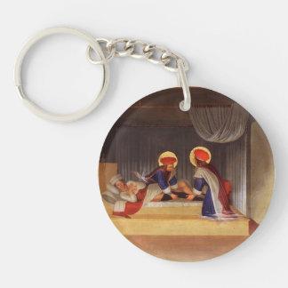 Fra Angelico- la cura de justiniano Llavero Redondo Acrílico A Una Cara