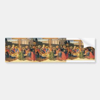 Fra Angelico- Lamentation over Christ Car Bumper Sticker
