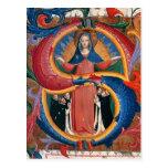 Fra Angelico: Madonna de la misericordia con los f Postal