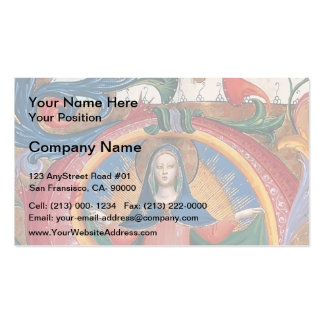Fra Angelico:Madonna of Mercy with Kneeling Friars Double-Sided Standard Business Cards (Pack Of 100)