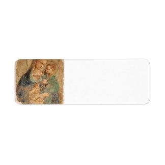 Fra Angelico- Madonna y niño Etiqueta De Remitente