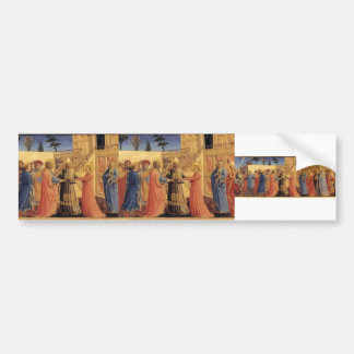 Fra Angelico- Marriage of the Virgin Car Bumper Sticker