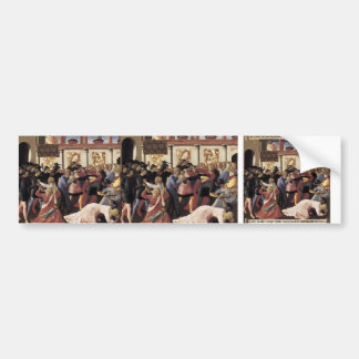 Fra Angelico- Massacre of the Innocents Car Bumper Sticker