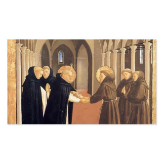 Fra Angelico-Meeting of Sts Dominic Francis Business Card