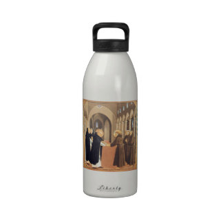 Fra Angelico-Meeting of Sts Dominic Francis Reusable Water Bottle
