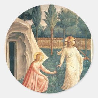 Fra Angelico- Noli yo Tangere Etiqueta Redonda