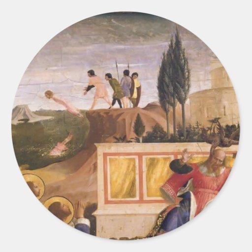 Fra Angelico- Saint Cosmas ,Saint Damian Salvaged Sticker