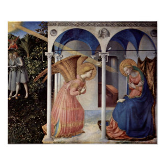 Fra Angelico - Scene: Annunciation Poster