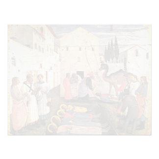 Fra Angelico- Sepulchring de St Cosmas y de St Dam Plantilla De Membrete