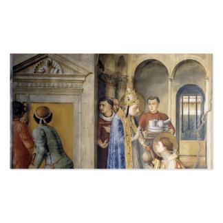 Fra Angelico- St.Lawrence que recibe los tesoros Tarjetas De Visita