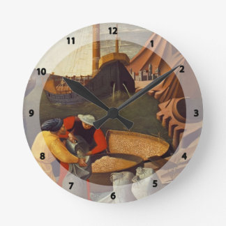 Fra Angelico- St. Nicholas saves the ship Round Wallclock