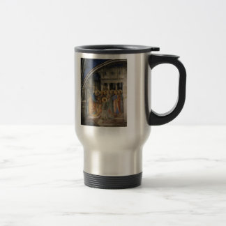 Fra Angelico- St. Peter Consacrates Stephen Deacon 15 Oz Stainless Steel Travel Mug