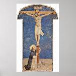 Fra Angelico - StDominic en la cruz de Cristo Impresiones