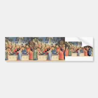 Fra Angelico- The Burial of the Virgin Car Bumper Sticker
