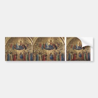 Fra Angelico- The Coronation of the Virgin Car Bumper Sticker