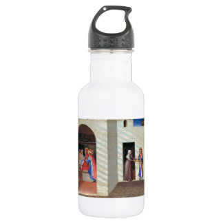 Fra Angelico- The Healing of Palladia 18oz Water Bottle