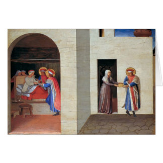 Fra Angelico- The Healing of Palladia Greeting Card
