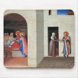 Fra Angelico- The Healing of Palladia Mouse Pad