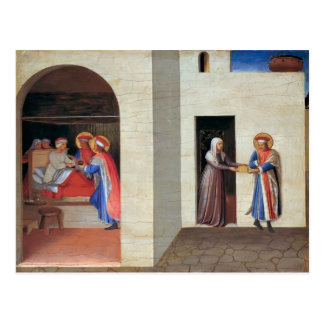 Fra Angelico- The Healing of Palladia Postcard