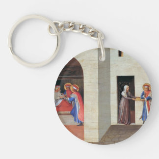 Fra Angelico- The Healing of Palladia Single-Sided Round Acrylic Keychain