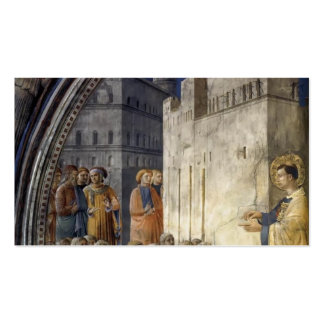 Fra Angelico- The Sermon of St Stephen Business Card Template
