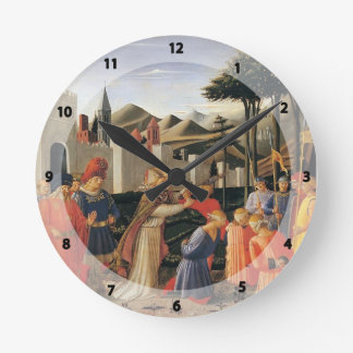Fra Angelico- The Story of St. Nicholas Round Clocks