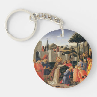 Fra Angelico- The Story of St. Nicholas Acrylic Key Chain