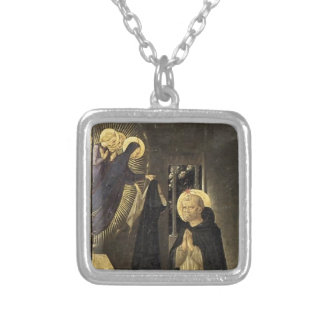 Fra Angelico- Virgin Consigns Habit to St. Dominic Custom Necklace