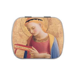 Fra Angelico- Virgin Mary Annunciate Jelly Belly Candy Tin