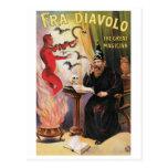 Fra Diavolo ~ The Great Magician Vintage Magic Act Postcard