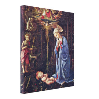Fra Filippo Lippi - Adoration of the Child Gallery Wrapped Canvas