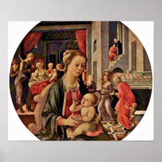 Fra Filippo Lippi - Madonna and Child tondo Poster