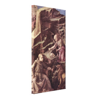 Fra Filippo Lippi - St Jerome in the wilderness Gallery Wrapped Canvas