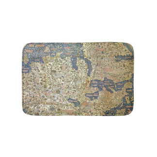 Fra Mauro Map Bath Mat