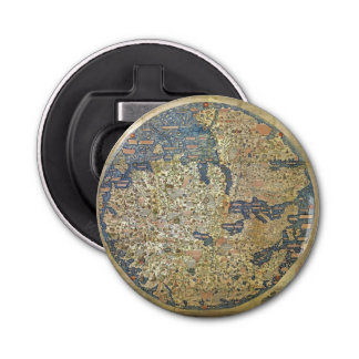 Fra Mauro Map Bottle Opener