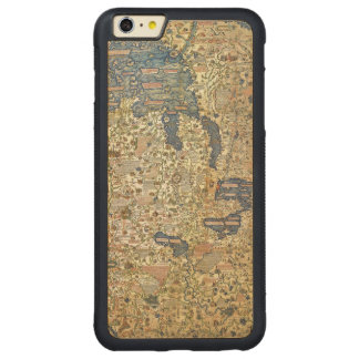Fra Mauro Map Carved Maple iPhone 6 Plus Bumper Case