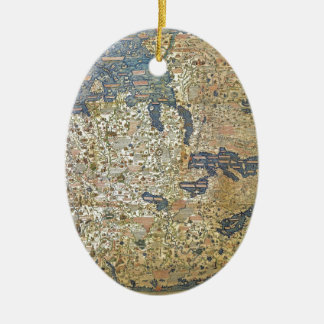 Fra Mauro Map Ceramic Ornament